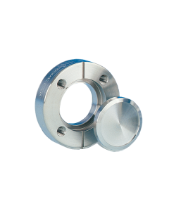 """100006, DN25CF, 54mm (17.5mm x 19.3mm), 2.125"""" (0.69"""" x 0.76"""") Del-Seal Mini ConFlat Flange, Rotatable, Clearance, 304ss"""