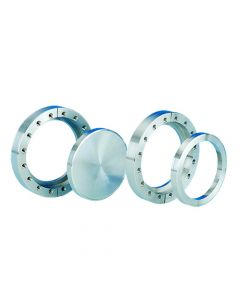 """120068, Flange, Del-Seal, Conflat Flange, DN100CF, 152mm (6""""), Blank, Tapped, Rotatable, 304ss"""