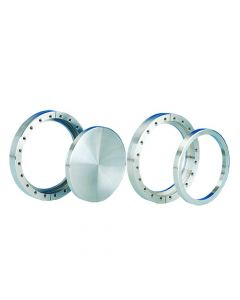 """120088, Flange, Del-Seal, Conflat Flange, DN160CF, 203mm x 156mm (8"""" x 6""""), Tapped, Rotatable, 304ss"""