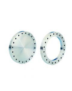 """130089, Flange, Del-Seal, Conflat Flange, DN160CF, 203mm x 156mm (8"""" x 6.1""""), Tapped, Non-Rotatable, 304ss"""