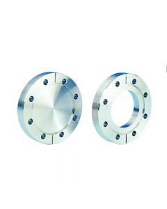 """1112111, DN40CF, 69.3mm (38.1mm x 34.9mm x 38.3mm), 2.75"""" (1.5"""" x 1.37"""" x 1.5"""") Del-Seal Mini ConFlat Flange, Non-Rotatable, Clearance, 316LN"""