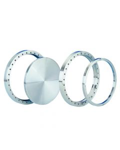 """120059, Flange, Del Seal, Conflat Flange, DN250CF, 304mm x 254mm (12"""" x 10""""), Tapped, Rotatable, 304ss"""