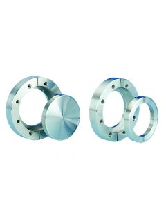 """120064, Flange, Del-Seal, Conflat Flange, DN63CF, 114mm x 63.5mm (4.5"""" x 2.5""""), Tapped, Rotatable, 304ss"""