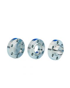 """130000, 1.33"""" (DN16CF 34mm) Mini ConFlat Flange, Non-Rotatable, Blank, Tapped, 304ss"""