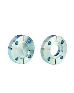 """130006, DN25CF, 54mm (17.5mm x 19.3mm), 2.125"""" (0.69"""" x 0.76"""") Del-Seal Mini ConFlat Flange, Non-Rotatable, Tapped, 304ss"""