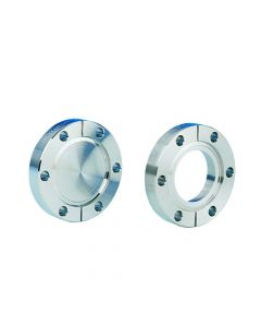 "130087, Flange, Del-Seal, Conflat Flange, DN63CF, 114mm x 70mm (4.5"" x 2.8""), Tapped, Non-rotatable, 304ss"