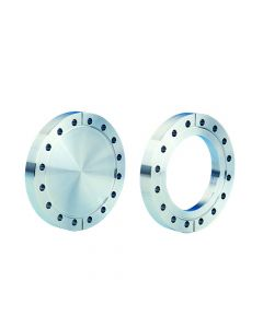 """130069, Flange, Del Seal, Conflat Flange, DN100CF, 152mm x  101.6mm (6"""" x 4""""), Tapped, Non-Rotatable, 304ss"""