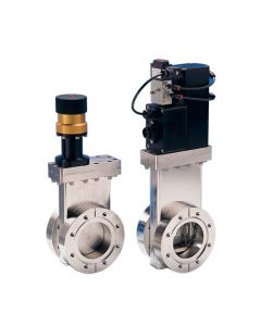 "Gate Valve, 2"" (50mm) UHV, Pneumatic, Metric"