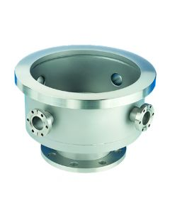 "523053, Base Well, Kwik-Flange KF Side Ports, 18"" (457.2mm), ANSI-6, NW40, 8 Ports, 304ss"