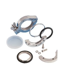 710011, Reducer Centering Ring, NW25 to NW20, ISO KF, Kwik Flange, Viton, Stainless Steel