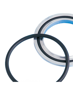 810001, Centering Ring, NW100, ISO LF, Large Flange, Viton, 304ss, (1 Per Pack) Includes one elastomer gasket  seal