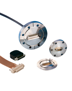 Multipin Feedthrough, 25 Pins Micro Type-D Instrumentation, L250, NW63, Large-Flange ISO LF, Quick-Flange