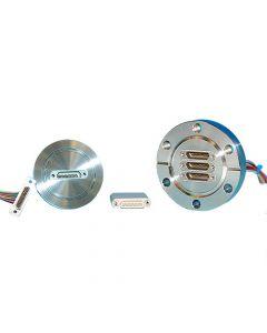 Multipin Feedthrough, 15PIN Micro Type-D, K200, NW50, Kwik-Flange ISO KF, Quick Flange