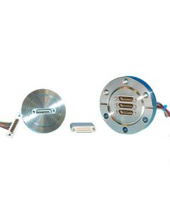 Multipin Feedthrough, 51PIN Micro Type-D, K200, NW50, Kwik-Flange ISO KF, Quick Flange