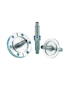 9213007, BNC Coaxial Feedthrough, 2 Pins, Gounded Shield, Double Ended, K200 (NW50) Kwik-Flange