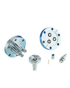 """SHV-5 Coaxial Feedthrough, 1 Pin, Gounded Shield, 1.33"""" Conflat Flange"""