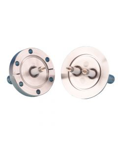 9273007, SHV-20 Coaxial Feedthrough, 1-Pin, Exposed, Grounded Shield, K150 (NW40) Kwik-FlangeQuick Flange