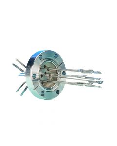 """Thermocouple Feedthrough, Type J, 5 Pairs, Miniature Connector, 2.75"""" Conflat Flange"""