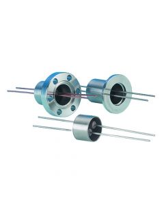 Power Feedthrough, 0.5KV, Insturmentation Current, 2 Pins, K075, NW16, Kwik-Flange ISO KF, Quick Flange