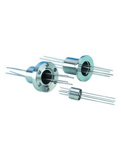 Power Feedthrough, 0.5KV, 16 Amps, 4 Amps, K075, NW16, Kwik-Flange ISO KF, Quick Flange