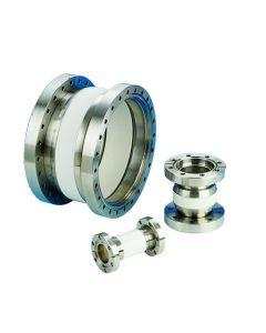 "9632011, NEW Large Ceramic Vacuum Break, 15kV, 11.75"" (298.5mm) ID, 2 Non-Rotatable 14.00"" (DN295CF 355.6mm) Del-Seal CF ConFlat Flanges"