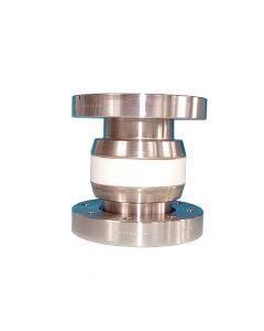 "9632003, Ceramic Vacuum Break, 8kV, 2.50"" (63.5mm) ID, 4.50"" (DN63CF 114.3mm) Del-Seal CF ConFlat Flange"