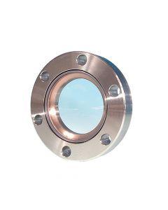 "9722013, UV Grade Fused Silica Viewport, 0.75"" Lens, 1.33"" Conflat Flange (19mm Lens, DN16 CF)"