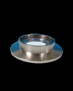 DUV-200 Grade (Laser) Fused Silica Viewport, K100 Kwik-Flange ISO KF, Quick Flange