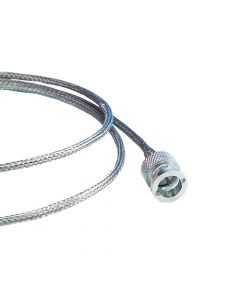 """Cable, Coaxial In Vacuum, .25"""" Cable Diameter, 12"""" Length, BNC-BNC Termination"""