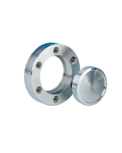 """100000, DN16CF, 1.33"""" (34mm) Del-Seal CF Mini ConFlat Flange, Rotatable, Blank, Clearance, 304ss"""