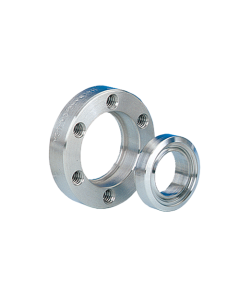 """100001, 1.33"""" x 0.25"""" (DN16CF 33.78mm x 6.35mm) Mini ConFlat Flange, Rotatable, Clearance, 304ss"""